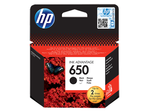 HP 650 Black Original Ink Advantage Cartridge