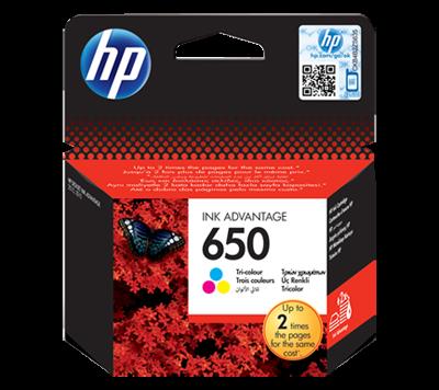 HP 650 Tri-color Original Ink Advantage Cartridge