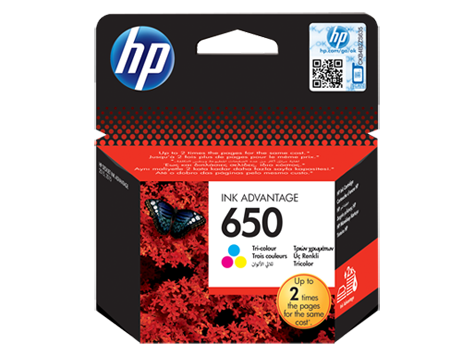 HP 650 Tri-color Original Ink Advantage Cartridge