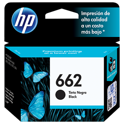 HP 662 Black Original Ink Advantage Cartridge