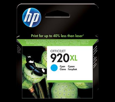 HP 920XL High Yield Cyan Original Ink Cartridge